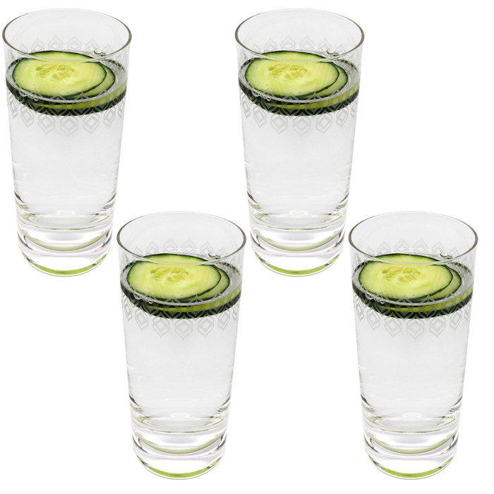 16 oz Glasses with Double Frosted Design