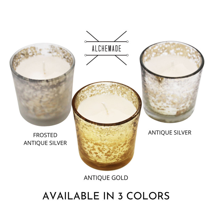 Alchemade Glass 2.3 Inch Votive Candles With Vanilla Scented Wax
