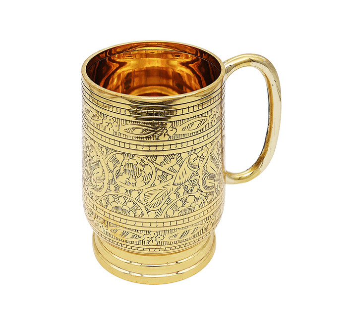 Rustic Brass Etched Beer Stein (20 oz)