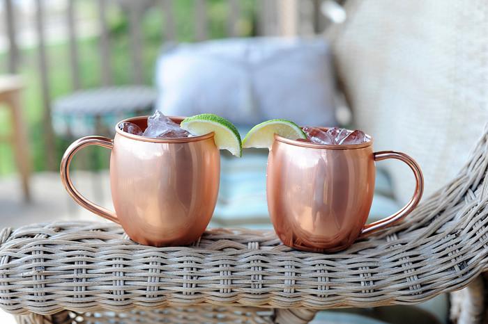 16 oz Smooth Copper Barrel Mugs (set of 2)