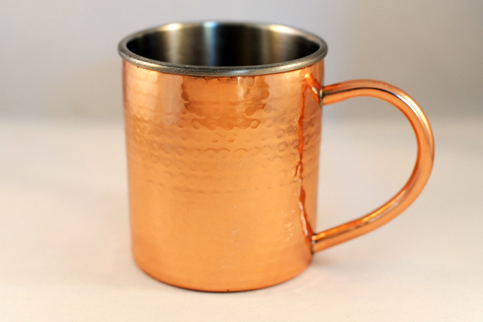 Double Wall Hammered Moscow Mule Copper Mug 14 or 12 oz