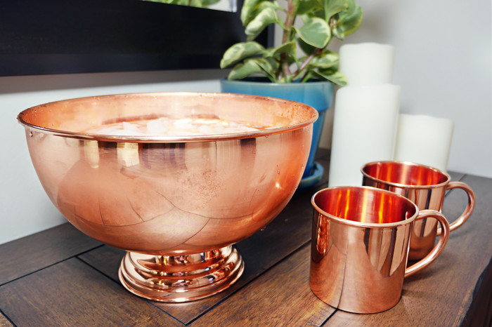 Pure Copper Punch Bowl - As seen in Bon Appetite Magazine
