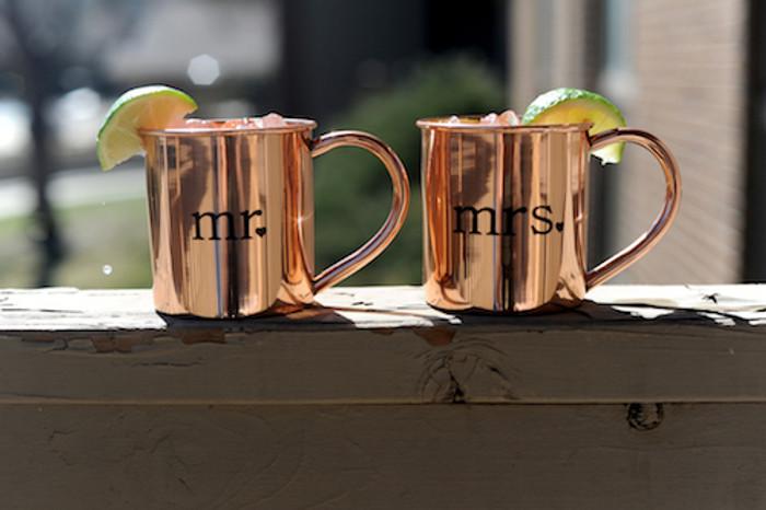 Mr. and Mrs. Mugs Copper Mugs - set of 2