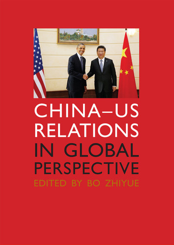 China–US Relations in Global Perspective