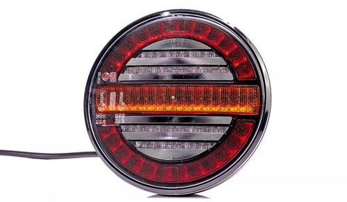 12v/24v Universal LED Rear Hamburger Light Lamp With Dynamic Progressive Sequential Indicator