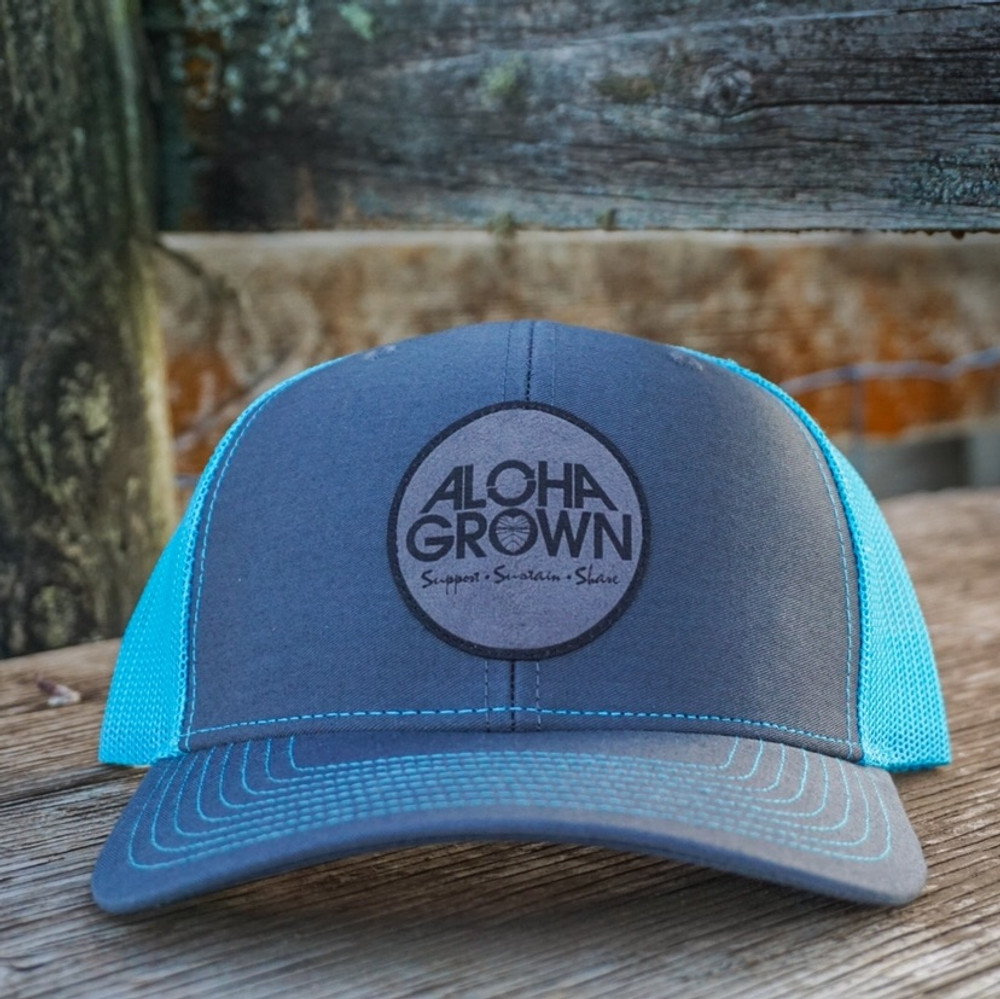 Aloha Grown Tagit cap in neon blue
