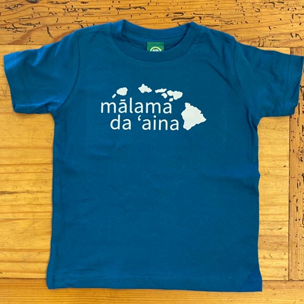 Malama Da 'Aina Toddler tee in Oceanside