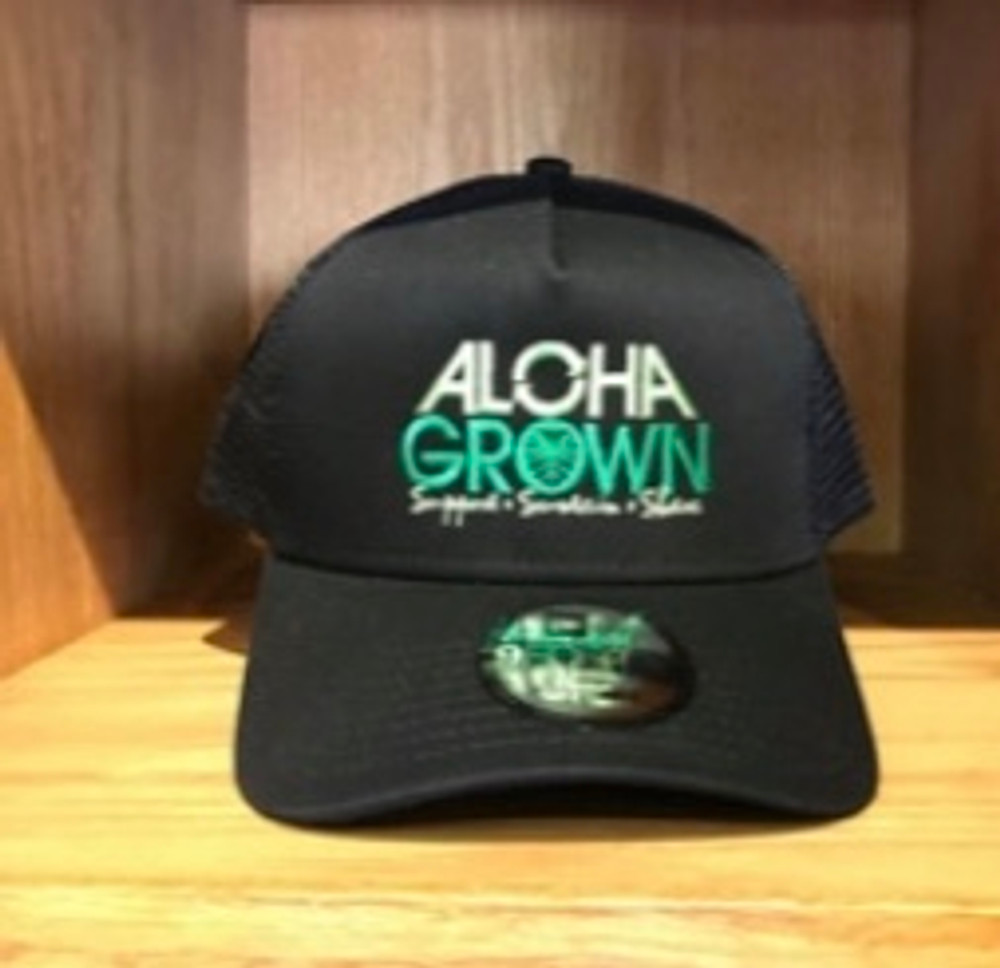 Aloha Grown New Era Black Cap