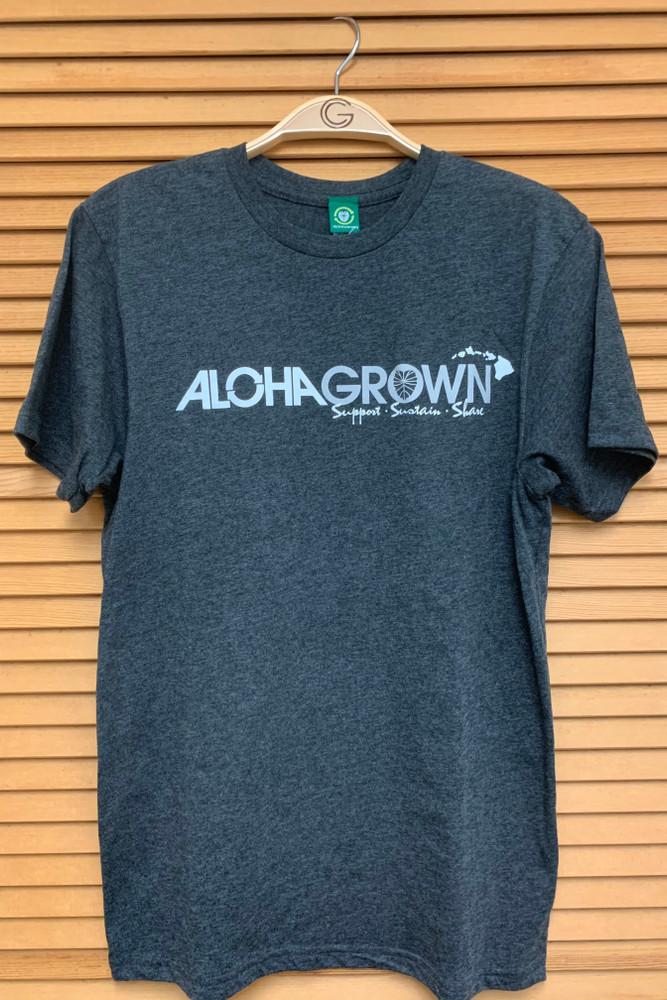 "Aloha Grown ""Simplicity"" Heather Blk Tee"