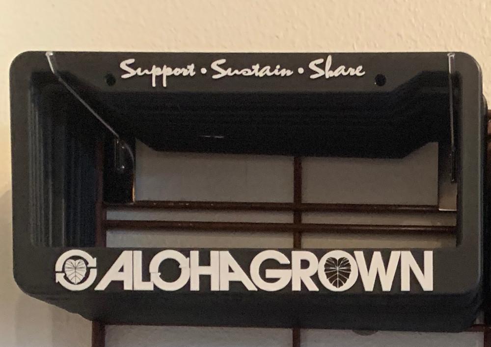 Aloha Grown License Plate Cover