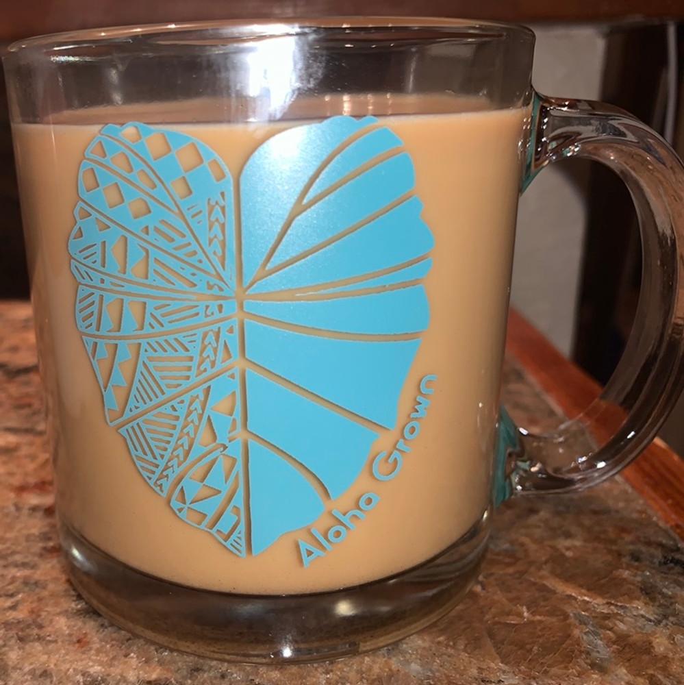 Tribal Kalo Glass Mug  13 oz.
