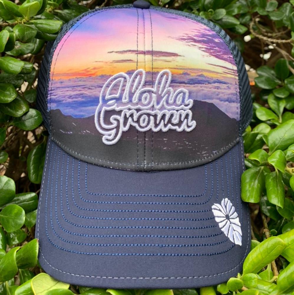 Mauna sunset Sublimation Cap