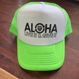 Live It Trucker Cap in neon green