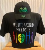 Men's World Needs Aloha Tee in Black