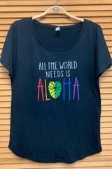 Ladies Worlds Need Aloha Dolman