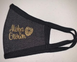 Adult Midnight mask with gold logo