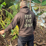 "Aloha Grown ""For the Aina"" Hoodie in chocolate"