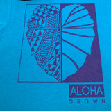 Men's Tribal Kalo Tee in Cobalt