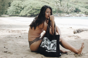 "Aloha Grown ""Palm"" Tote Bag"