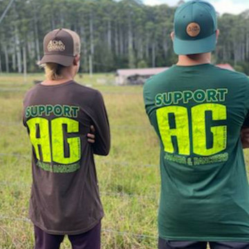Support AG Tee in Forest Green