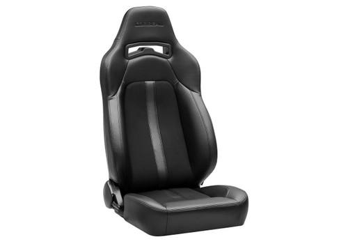 Corbeau Corbeau Trailcat Reclining Seat Black Vinyl/Cloth w/White Stitching