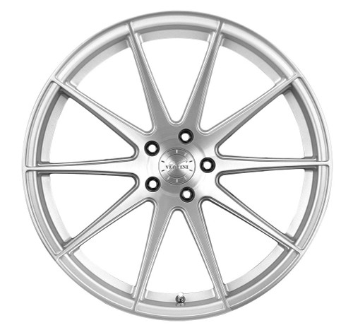 Vertini Wheels Vertini RF1.3 Polished With Brushed Face Rotary Forged 20x9 05 Mustang