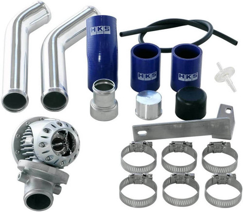 HKS HKS 08 Evo 10 SSQV4 BOV Kit Includes 2 Polished Aluminum Pipes - 71008-AM015