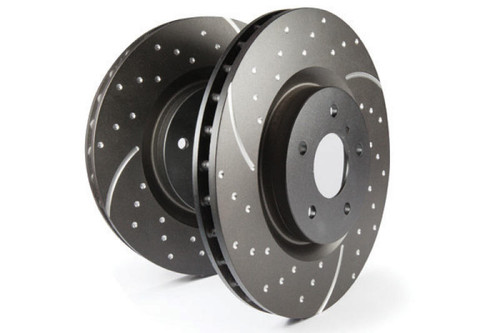 EBC EBC 15-17 Ford F-150 GD Sport Slotted and Dimpled Rear Rotors - GD7700