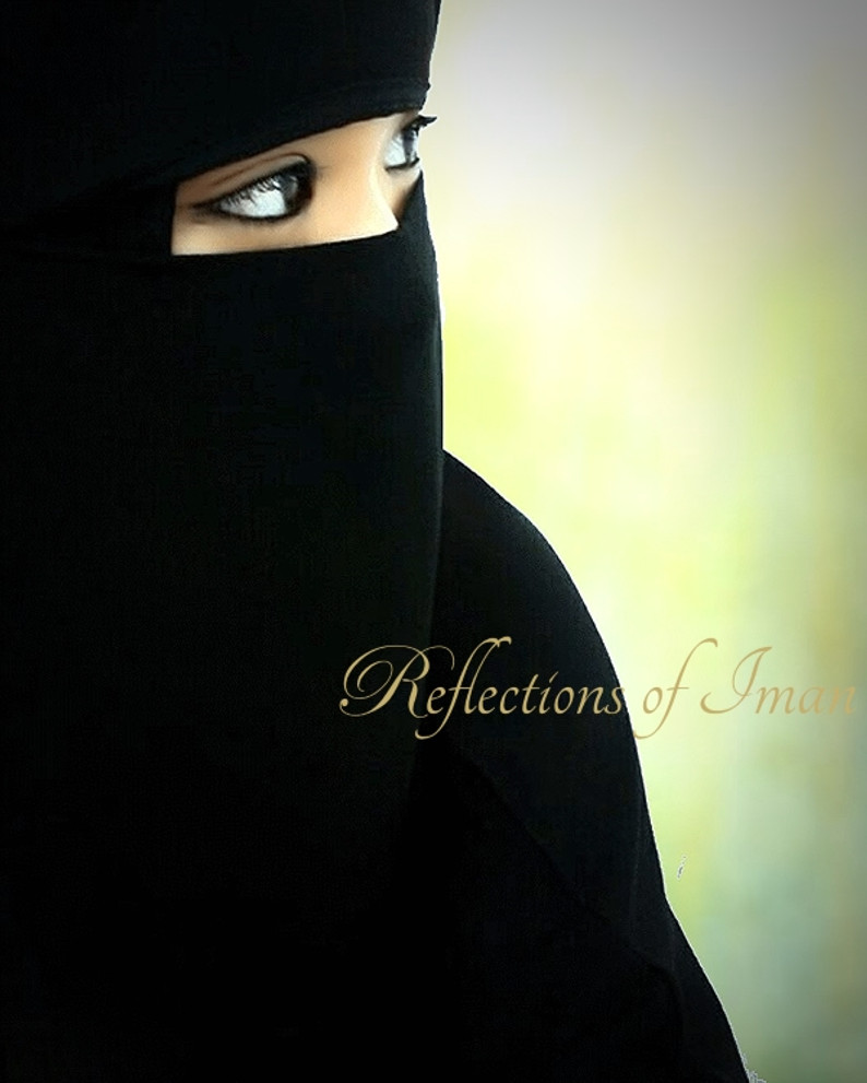 Saudi Single Layer Classic  Black Niqab