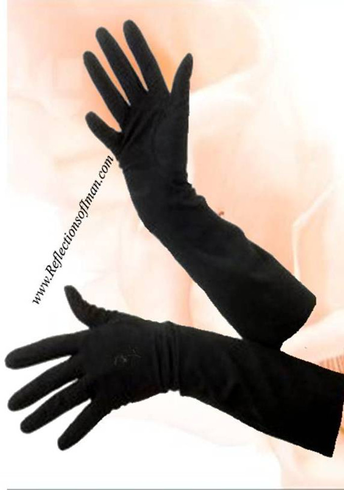 Beautifully Modest Black Gloves