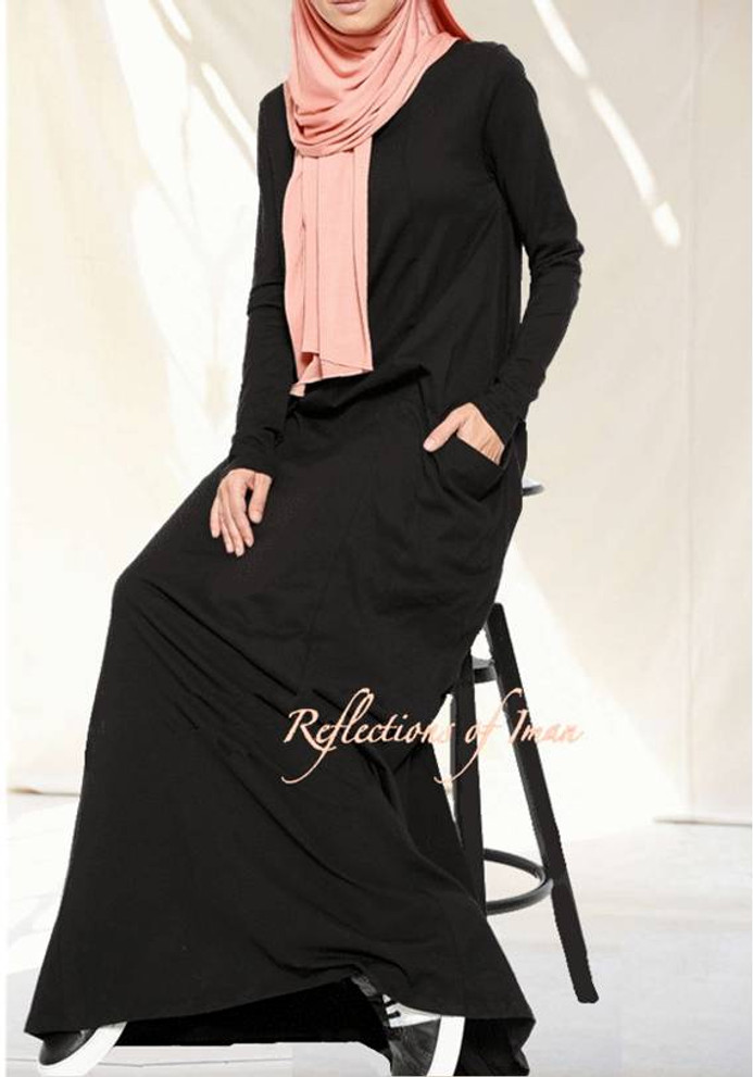 Everyday Basic Black Abaya