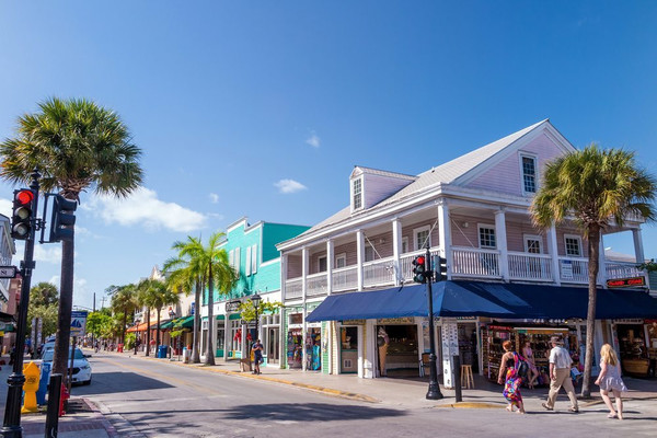 Famous Duval Street in Key West Florida