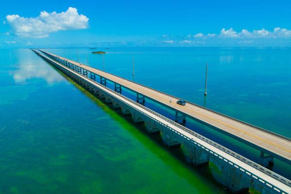 Famous 7 mile bridge