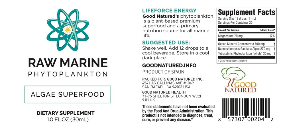 Raw Marine Phytoplankton (made by Oceans Alive) 12 Pack ($28.00/btl)