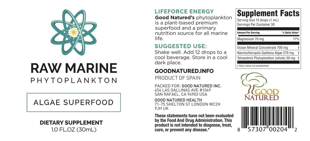 Raw Marine Phytoplankton (made by Oceans Alive)  5-Pack ($29.00 each)