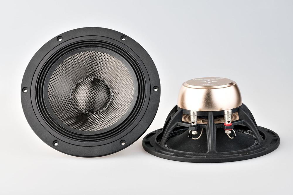 "X6 7.1"" Carbon Fiber Speaker Set With Dust Cap"