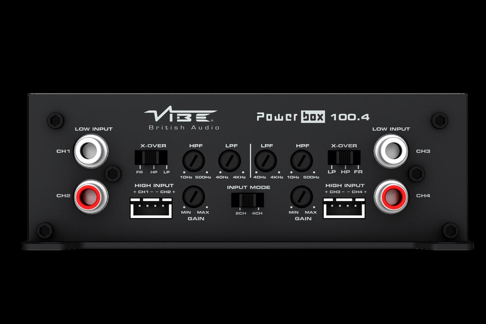 Vibe Powerbox 4 Channel  100w x 4 Mini Amplifier POWERBOX100.4M-V0