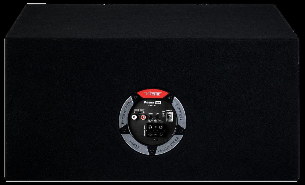 """Vibe Slick Dual 12"""" Active Ported Subwoofer Enclosure SLICKCBR12TA-V0"""