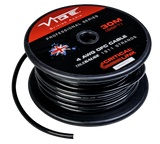 4 AWG OFC True Gauge Power Wire Black 99' Roll