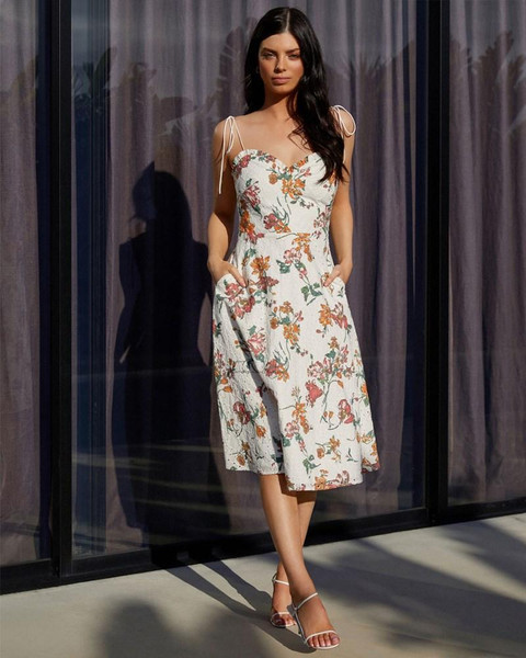 Anthea Dress - Spring Print