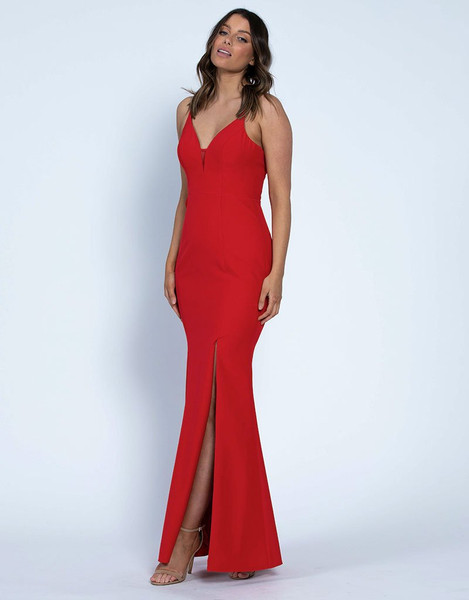 Kayla Strappy Gown - Red