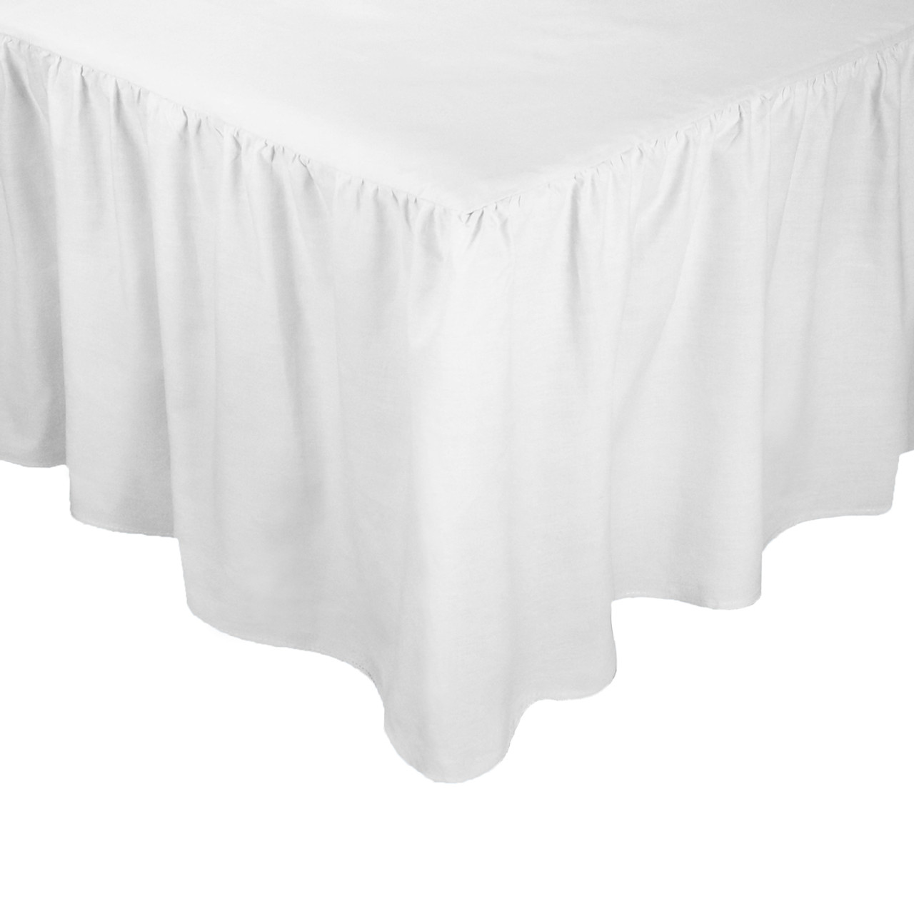 """Double Bed Fitted Valance Sheet Rust 24/"""" Frill Polycotton Luxury"""