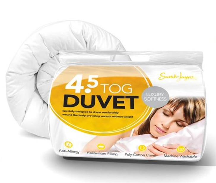 Hollowfibre Anti Allergy Summer Duvet 4.5 Tog - Super King