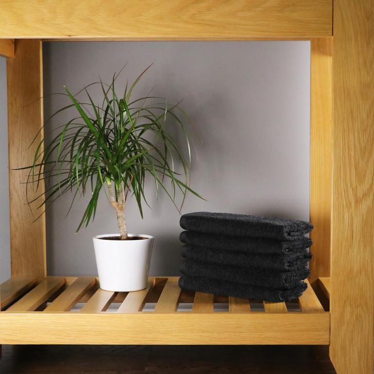 500GSM Luxury Guest Towels 30x50 cm - Black