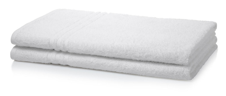 Single Piece White Wholesale Institutional and Hotel Bath Sheets - 400 GSM