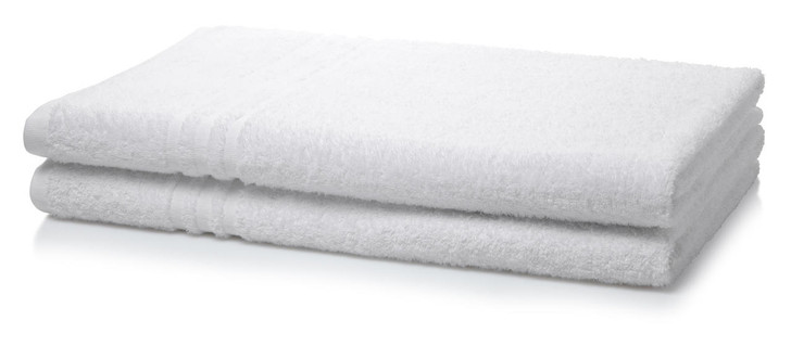 Single Piece White Wholesale Institutional and Hotel Bath Sheets - 500 GSM