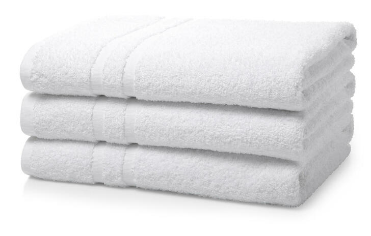 Single Piece White Wholesale Institutional and Hotel Bath Towels - 500 GSM