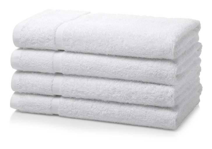 Box of 48 White Wholesale Institutional and Hotel Hand Towels - 500 GSM