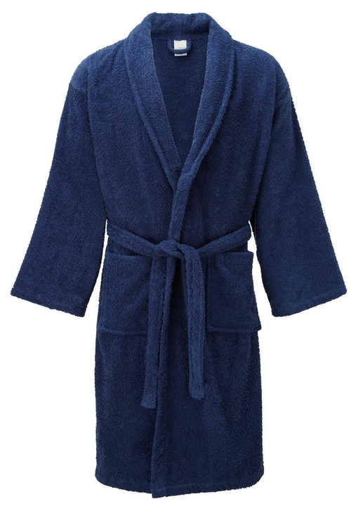Navy Blue Terry Towelling Dressing Gowns