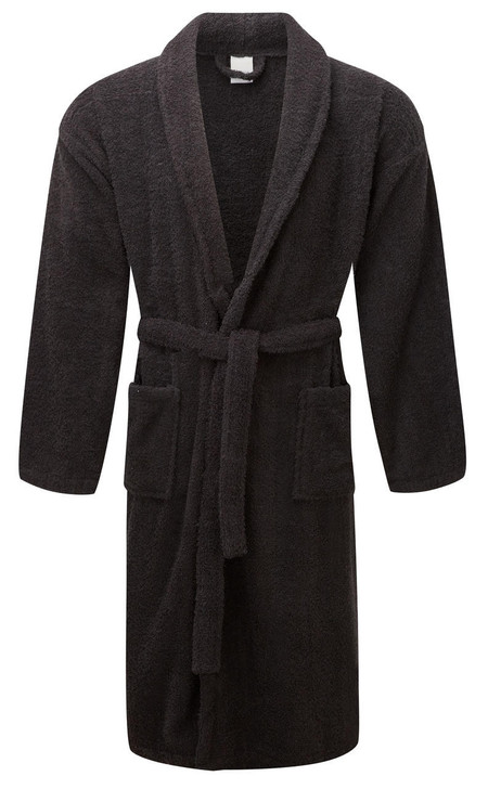 Black Terry Towelling Dressing Gown